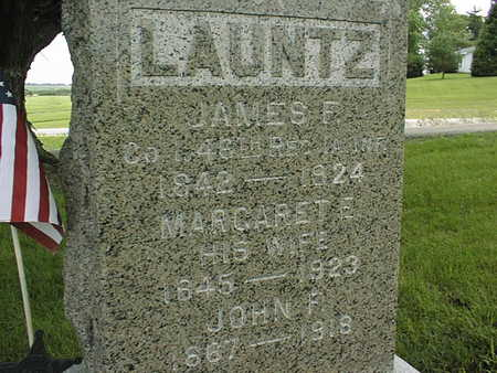 LAUNTZ, JAMES F. - Cedar County, Iowa   JAMES F. LAUNTZ