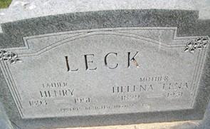 LECK, HENRY - Cedar County, Iowa | HENRY LECK
