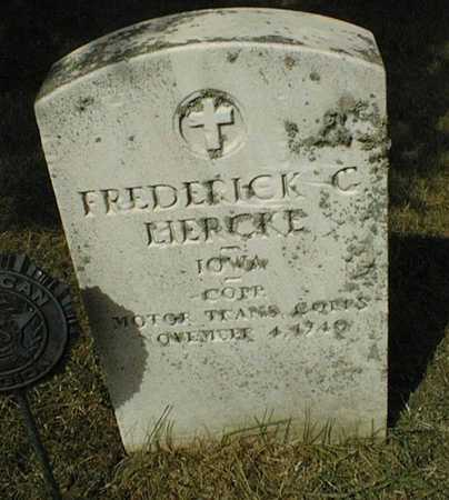 LIERCKE, FREDERICK C. - Cedar County, Iowa   FREDERICK C. LIERCKE