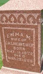 LINEAWEAVER, EMMA M. - Cedar County, Iowa | EMMA M. LINEAWEAVER