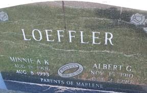 LOEFFLER, MINNIE A. K. - Cedar County, Iowa   MINNIE A. K. LOEFFLER