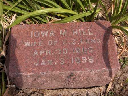 HILL LONG, IOWA M. - Cedar County, Iowa | IOWA M. HILL LONG