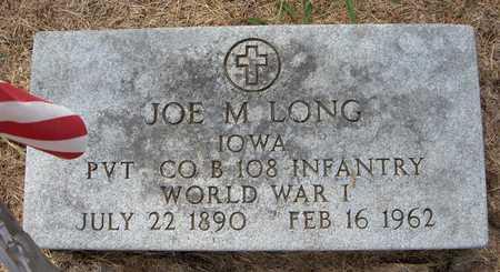 LONG, JOE M. - Cedar County, Iowa | JOE M. LONG