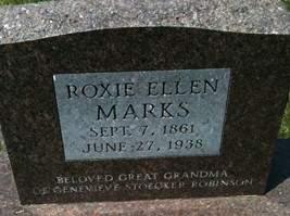MARKS, ROXIE ELLEN - Cedar County, Iowa | ROXIE ELLEN MARKS