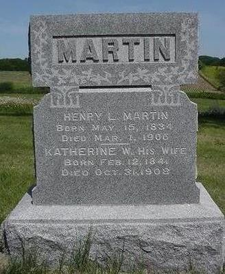 MARTIN, KATHERINE - Cedar County, Iowa | KATHERINE MARTIN