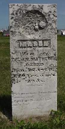 MATHEWS, MASON - Cedar County, Iowa | MASON MATHEWS
