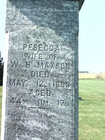 MAXSON, REBECCA - Cedar County, Iowa | REBECCA MAXSON