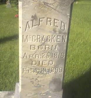 MCCRACKEN, ALFRED - Cedar County, Iowa | ALFRED MCCRACKEN