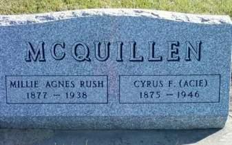 RUSH MCQUILLEN, MILLIE AGNES - Cedar County, Iowa | MILLIE AGNES RUSH MCQUILLEN