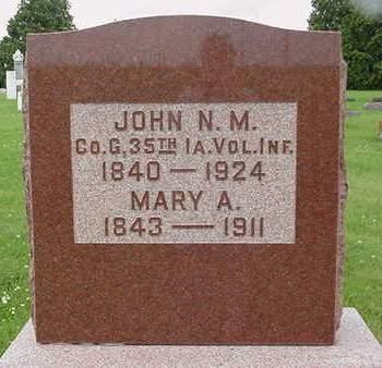 MENSCH, MARY A. - Cedar County, Iowa   MARY A. MENSCH