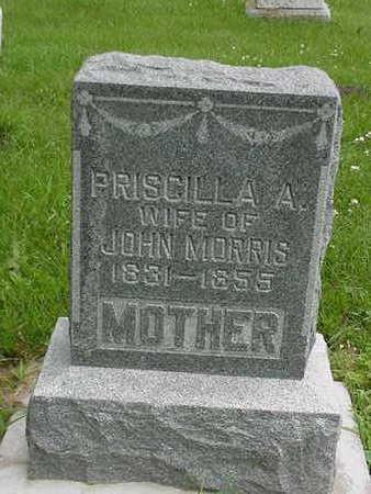MORRIS, PRISCILLA A. - Cedar County, Iowa   PRISCILLA A. MORRIS