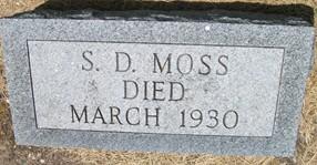 MOSS, SYLVESTER DENMON - Cedar County, Iowa | SYLVESTER DENMON MOSS