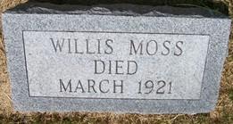 MOSS, WILLIS W. - Cedar County, Iowa   WILLIS W. MOSS