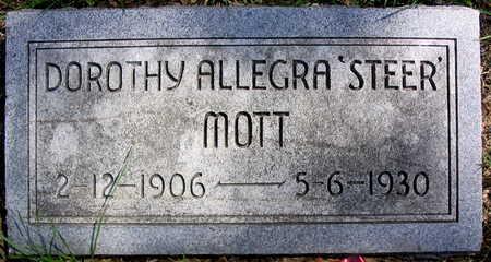 MOTT, DOROTHY ALLEGRA 'STEER' - Cedar County, Iowa | DOROTHY ALLEGRA 'STEER' MOTT