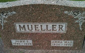 MUELLER, ANNA MAE - Cedar County, Iowa | ANNA MAE MUELLER