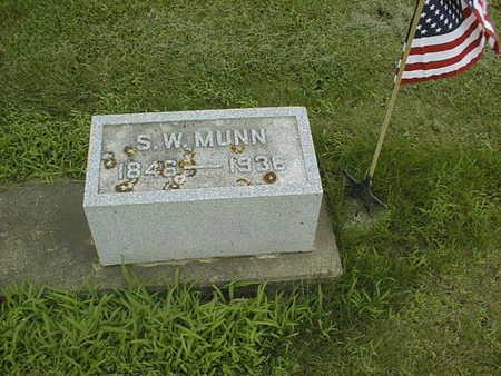 MUNN, S.W. - Cedar County, Iowa   S.W. MUNN