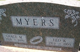 MYERS, GRACE M. - Cedar County, Iowa | GRACE M. MYERS