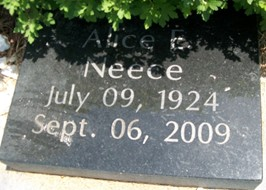 AHRENS NEECE, ALICE ETHYL - Cedar County, Iowa   ALICE ETHYL AHRENS NEECE