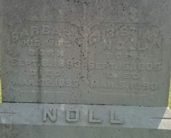 ROTHERMEL NOLL, BARBARA - Cedar County, Iowa | BARBARA ROTHERMEL NOLL