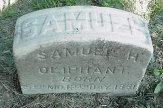 OLIPHANT, SAMUEL H. - Cedar County, Iowa | SAMUEL H. OLIPHANT
