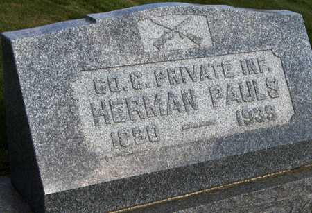 PAULS, HERMAN - Cedar County, Iowa | HERMAN PAULS