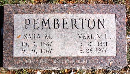PEMBERTON, SARA M. - Cedar County, Iowa | SARA M. PEMBERTON