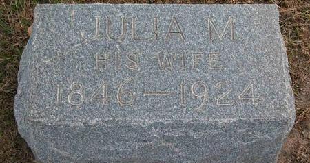 PIERCE, JULIA MARY - Cedar County, Iowa | JULIA MARY PIERCE