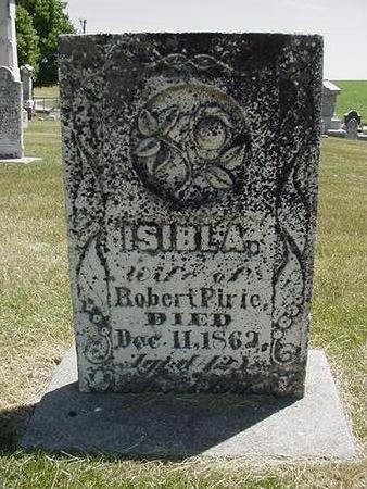 PIRIE, ISIBL A. - Cedar County, Iowa   ISIBL A. PIRIE