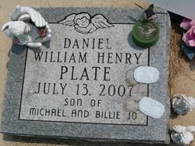 PLATE, DANIEL WILLIAM HENRY - Cedar County, Iowa | DANIEL WILLIAM HENRY PLATE