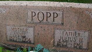 POPP, JULIUS H. - Cedar County, Iowa | JULIUS H. POPP
