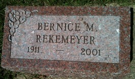 REKEMEYER, BERNICE M. - Cedar County, Iowa   BERNICE M. REKEMEYER