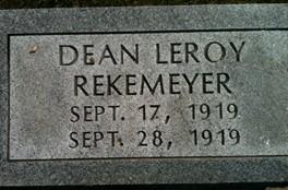 REKEMEYER, DEAN LEROY - Cedar County, Iowa | DEAN LEROY REKEMEYER