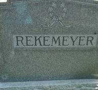 REKEMEYER, FAMILY MONUMENT - Cedar County, Iowa | FAMILY MONUMENT REKEMEYER