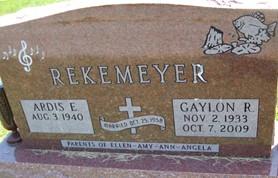 REKEMEYER, GAYLON RHEA - Cedar County, Iowa | GAYLON RHEA REKEMEYER