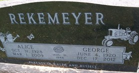 REKEMEYER, GEORGE C. - Cedar County, Iowa | GEORGE C. REKEMEYER