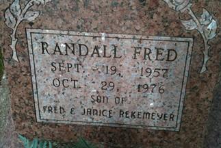 REKEMEYER, RANDALL FRED - Cedar County, Iowa | RANDALL FRED REKEMEYER