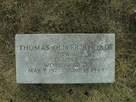 RHOADS, THOMAS OLIVER - Cedar County, Iowa | THOMAS OLIVER RHOADS