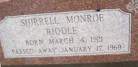 RIDDLE, SHIRRELL MONROE - Cedar County, Iowa   SHIRRELL MONROE RIDDLE