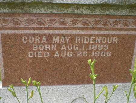 RIDENOUR, CORA MAY - Cedar County, Iowa | CORA MAY RIDENOUR
