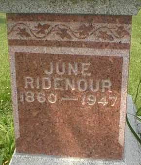 RIDENOUR, JUNE - Cedar County, Iowa   JUNE RIDENOUR