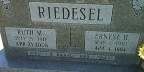 RIEDESEL, ERNEST HENRY - Cedar County, Iowa | ERNEST HENRY RIEDESEL