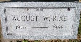 RIXE, AUGUST W. - Cedar County, Iowa | AUGUST W. RIXE