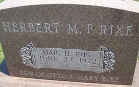 RIXE, HERBERT M.F. - Cedar County, Iowa | HERBERT M.F. RIXE