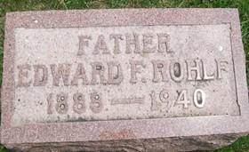 ROHLF, EDWARD F. - Cedar County, Iowa | EDWARD F. ROHLF