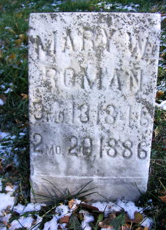 ROMAN, MARY W. - Cedar County, Iowa | MARY W. ROMAN