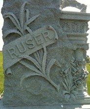 RUSER, FAMILY MONUMENT - Cedar County, Iowa | FAMILY MONUMENT RUSER