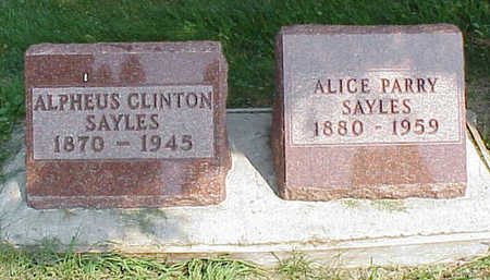 SAYLES, ALPHEUS CLINTON - Cedar County, Iowa | ALPHEUS CLINTON SAYLES