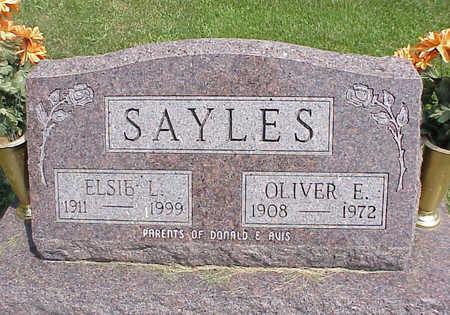 HAYSLETT SAYLES, ELSIE L. - Cedar County, Iowa   ELSIE L. HAYSLETT SAYLES