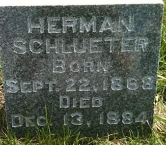 SCHLUETER, HERMAN - Cedar County, Iowa   HERMAN SCHLUETER