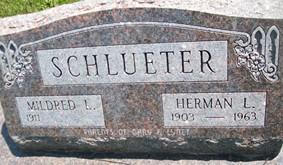 SCHLUETER, MILDRED L. - Cedar County, Iowa   MILDRED L. SCHLUETER